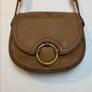 Tory Burch nubuck leather saddle bag